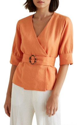 Seed Heritage Wrap Front Blouse