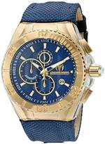 Technomarine Women's Quartz Watch with Blue Dial Chronograph Display and Blue Nylon Strap TM-115175
