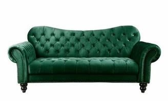House Of Hamptonâ® Lizabeth Button Tufted Chesterfield Sofa House of HamptonA Upholstery Color: Green