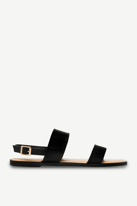 Ardene Faux Leather Ankle Strap Sandals