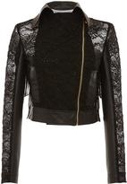Francesco Scognamiglio Leather and Lace Motorcycle Jacket