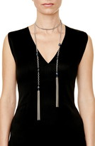 Sheryl Lowe Sapphire Nugget Lariat Necklace