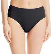 Fit 4 U Women's Solid Swim Brief Bikini Bottom