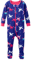 Petit Lem Knit Pajama Sleeper (Baby Girls)