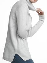 White + Warren Luxe Melange Cozy Knit Funnelneck