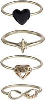 Accessorize Stargazer Stacking Ring Set