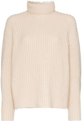 Loewe Pearl-Embellished Cashmere Knitted Jumper