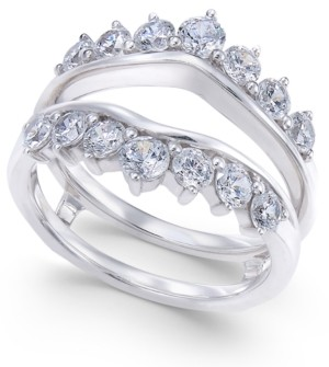 Macy's Diamond Tiara Solitaire Enhancer Ring Guard (1-3/8 ct. t.w.) in 14k White Gold