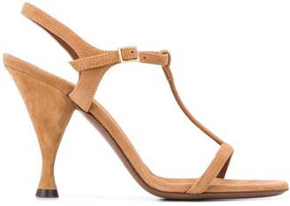 L'Autre Chose T-bar cone-heel sandals