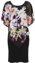 Wallis Black Floral Print Overlay Dress