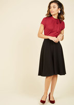 ModCloth Bugle Joy Midi Skirt in Black in XS