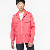 Paul Smith Men's Pink Four Pocket Cotton And Cupro-Blend Field Jacket