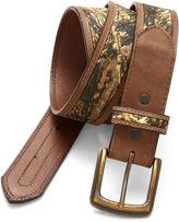John Deere Camouflage Strap Leather Belt