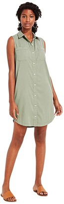 Vineyard Vines Garment-Dyed Sleeveless Margo Dress (Sage Olive) Women's Clothing