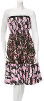 Givenchy Floral Printed Strapless Dress w/ Tags