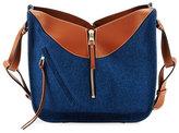 Loewe Hammock Small Denim Shoulder Bag