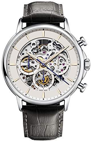 Edox Men's 95005 3 AIR Les Bemonts Analog Display Swiss Automatic Black Watch