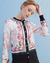 Ted Baker Painted Posie woven bomber