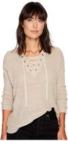BB Dakota Willard Marled Sweater with Lace-Up Detail Women's Sweater
