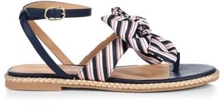 Jack Rogers Heidi Flat Stripe Bow Thong Sandals