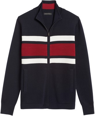 Banana Republic Merino-Blend Sweater Jacket