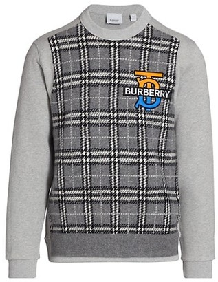 Burberry Regent TB Plaid Cotton Sweatshirt