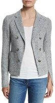 Theory Jonita K Parkdale Double-Breasted Jacket, Light Gray Multi