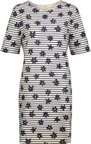 Chinti and Parker Printed stretch-cotton mini dress