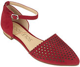 Sole Society As Is Two- Piece Perforated Suede Flats