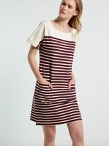 White Stuff Kora stripe jersey dress