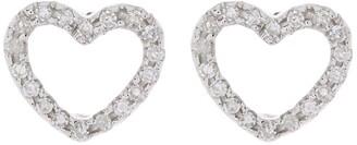 Ron Hami 14K White Gold Diamond Heart Shape Stud Earrings - 0.10 ctw