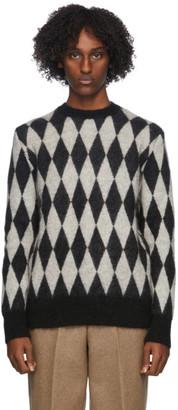 Ami Alexandre Mattiussi Black and White Diamond Sweater