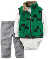 Carter's 3-Pc. Bear-Print Vest, Bodysuit & Pants Set, Baby Boys (0-24 months)