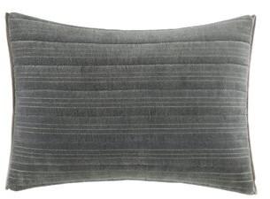 Vera Wang Shadow Stripe Rectangular Velvet Lumbar Pillow