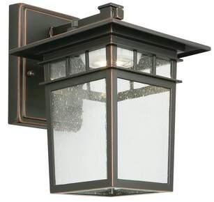Dayton Design House 12-Watt Integrated LED Oil Rubbed Bronze Outdoor Wall Lantern Sconce Design House