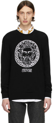 Versace Black Adriano Crewneck Sweater