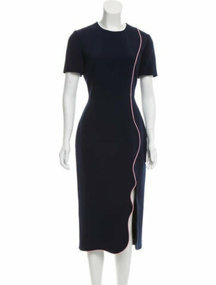 Roksanda Woven Midi Dress w/ Tags Navy