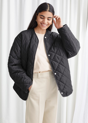 And other stories Double Breasted Quilted Jacket