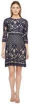 Christin Michaels Maxine 3/4 Sleeve Lace Dress