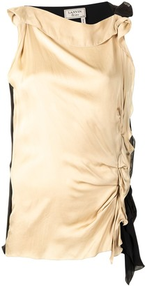 LANVIN Pre-Owned Gathered Detail Sleeveless Blouse