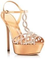 Sergio Rossi Swarovksi Crystal Vague High Heel Platform Sandals
