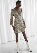 And other stories Leopard Print Mini Wrap Dress