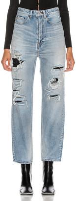 Balenciaga Ripped Regular Jean in Dirty Light Vintage Blue | FWRD