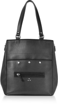 Jerome Dreyfuss Serge Black Leather Tote Bag