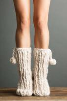 Lemon Pompom Slipper Sock