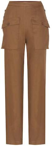 Chloé Cotton-blend trousers