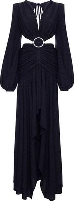 PatBO Lurex cut-gown maxi dress