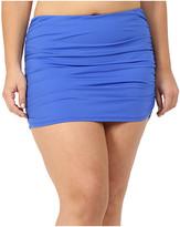 Lauren Ralph Lauren Plus Size Beach Club Solids Ultra High Waisted Skirted