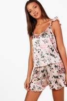boohoo Tall Mia Ruffle Cami & Shorts Nightwear Set