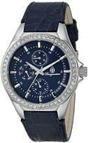 Burgmeister Women's Quartz Watch with Blue Dial Analogue Display and Blue Leather Bracelet BM529-133